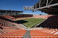 Houston, TX - Sunday Oct. 09, 2016: BBVA Compass Stadium prior to a National Women's Soccer League (NWSL) Championship match between the Washington Spirit and the Western New York Flash at BBVA Compass Stadium.