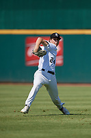 Mason Molina (24) of Trabuco Hills High School in Rancho Santa Margarita, CA during the Perfect Game National Showcase at Hoover Metropolitan Stadium on June 19, 2020 in Hoover, Alabama. (Mike Janes/Four Seam Images)