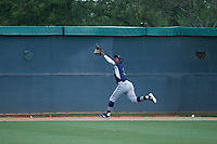 AZL Padres 2 center fielder Angel Solarte (3) pursues a fly ball during an Arizona League game against the AZL White Sox on June 29, 2019 at Camelback Ranch in Glendale, Arizona. The AZL Padres 2 defeated the AZL White Sox 7-3. (Zachary Lucy/Four Seam Images)