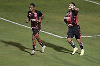 Campinas (SP), 14/08/2020 - Ponte Preta - Vitória-BA - Léo Ceará comemora gol do Vitoria. Partida entre Ponte Preta e Vitória-BA pelo Campeonato Brasileiro 2020 da serie B, nesta sexta-feira (14), no Estádio Moisés Lucarelli, em Campinas (SP).