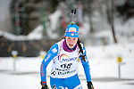 MARTELL-VAL MARTELLO, ITALY - FEBRUARY 02: RUNGGALDIER Alexia (ITA) during the Women 7.5 km Sprint at the IBU Cup Biathlon 6 on February 02, 2013 in Martell-Val Martello, Italy. (Photo by Dirk Markgraf)