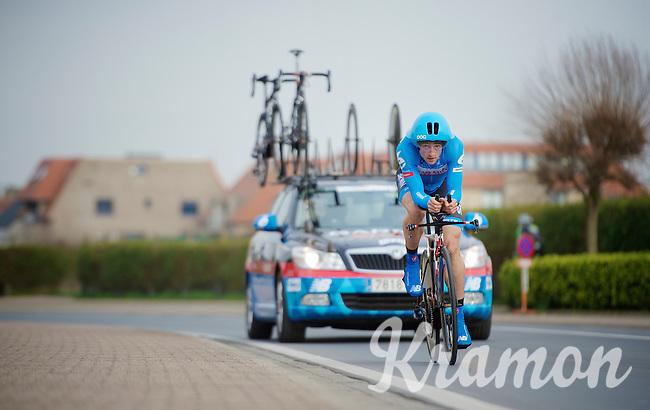 Nathan Haas (AUS) and his poc (TT helmet)<br /> <br /> 3 Days of West-Flanders 2014<br /> day 1: TT/prologue Middelkerke 7,0 km