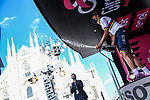 World Champion Filippo Ganna (ITA) Ineos Grenadiers Piazza Duomowins Stage 21 of the 2021 Giro d'Italia, an individual time trial running 30.3km from Senago to Milan, Italy. 30th May 2021.  <br /> Picture: LaPresse/Gian Mattia D'Alberto   Cyclefile<br /> <br /> All photos usage must carry mandatory copyright credit (© Cyclefile   LaPresse/Gian Mattia D'Alberto)