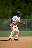 Michael Dixon during the WWBA World Championship at the Roger Dean Complex on October 20, 2018 in Jupiter, Florida.  Michael Dixon is an outfielder from Oakland, California who attends Berkeley High School and is committed to San Diego.  (Mike Janes/Four Seam Images)