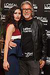 Spanish actress Nerea Barros a and Alberto Cerdan poses for photographers during a presentation for a sponsor of the Goya Awards with hairdressers and Makeup artist at Academia de Cinema in Madrid January 14, 2015, Spain. (ALTERPHOTOS / Nacho Lopez)