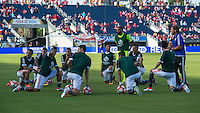 Orlando, Florida - Saturday, June 04, 2016: Paraguay players prepare for a Group A Copa America Centenario match between Costa Rica and Paraguay at Camping World Stadium.