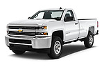 2018 Chevrolet Silverado 2500HD Work Truck Regular Cab  2 Door Pick Up angular front stock photos of front three quarter view