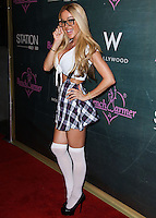 HOLLYWOOD, LOS ANGELES, CA, USA - AUGUST 28: Tabitha Taylor arrives at the Benchwarmer Back To School Celebration to Benefit Children of the Night held at Station Hollywood at the W Hotel Hollywood on August 28, 2014 in Hollywood, Los Angeles, California, United States. (Photo by Xavier Collin/Celebrity Monitor)