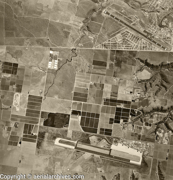 historical aerial photograph Otay Mesa, San Diego, California and Tijuana, Baja, Mexico, 1966
