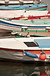 Canal Grande colorful boats in Trieste, Italy