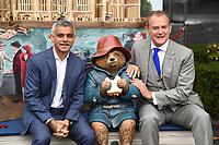 "Mayor Sadiq Khan and Hugh Bonneville<br /> at the ""Paddington's Pop-Up London"" launch, London<br /> <br /> <br /> ©Ash Knotek  D3339  19/10/2017"