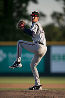 Lake Elsinore Storm starting pitcher Michel Baez (26) prepares to deliver a pitch during a California League game against the Modesto Nuts at John Thurman Field on May 11, 2018 in Modesto, California. Modesto defeated Lake Elsinore 3-1. (Zachary Lucy/Four Seam Images)