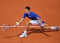 03-06-13, Tennis, France, Paris, Roland Garros,  Novak Djokovic