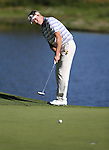 Jack Wagner watches a putt in the final round of the American Century Championship at Edgewood Tahoe Golf Course in Stateline, Nev., on Sunday, July 19, 2015. <br /> Photo by Cathleen Allison