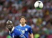 """Mario Balotelli.Varsavia 28/06/2012  """"Stadion Narodowy"""".Football calcio Europeo 2012 Germania Vs Italia.Football Calcio Euro 2012.Foto Piotr Hawalej/Panoramic/Insidefoto"""