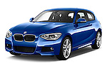Front three quarter view of a 2012 - 2014 BMW 1-Series 118d M Sport 3 Door Hatchback 2WD.