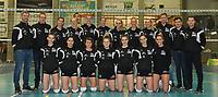 Black and White Company LENDELEDE - Volley Saturnus Michelbeke :<br /> Technische staf en speelsters van Lendelede poseren bij hun laatste wedstrijd voor de ploeg ophoudt te bestaan<br /> <br /> Foto VDB / Bart Vandenbroucke