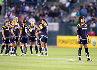 LA Sol's Han Duan steps away.. The LA Sol defeated Sky Blue FC 1-0 at Home Depot Center stadium in Carson, California on Friday May 15, 2009.   .