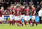 Arbroath v St Johnstone…15.08.21  Gayfield Park      Premier Sports Cup<br />Thomas O'Brien celebrates his goal<br />Picture by Graeme Hart.<br />Copyright Perthshire Picture Agency<br />Tel: 01738 623350  Mobile: 07990 594431