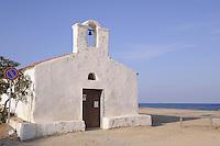 - Sardinia, little church on the beach of La Caletta, municipality of Posada....- Sardegna, chiesetta sulla spiaggia di la Caletta , comune di Posada..