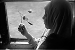 Summer '98-- Jakarta, Indonesia -- A young muslim women is on her way to the MPR(Government Capital) to protest  against President Suharto..