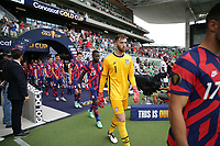 AUSTIN, TX - JULY 29: Matt Turner #1 of the United States during walkout during a game between Qatar and USMNT at Q2 Stadium on July 29, 2021 in Austin, Texas.