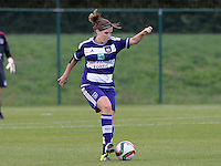 20150904 - TUBIZE , BELGIUM : Anderlecht's Marlies Verbruggen pictured during a soccer match between the women teams of RSC Anderlecht and KRC Genk Ladies  , on the second matchday of the 2015-2016 SUPERLEAGUE season, Friday 4  September 2015 . PHOTO DAVID CATRY