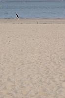 beach with a single woman arcachon bordeaux france
