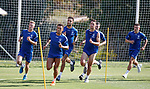 20.06.18 Rangers players putting in the laps