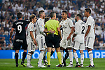 Real Madrid's Real Madrid's players have words with referee Santiago Jaime Latre during La Liga match. September 01, 2018. (ALTERPHOTOS/A. Perez Meca)
