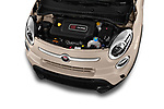 Car Stock 2016 Fiat 500L Trekking 5 Door Mini MPV Engine  high angle detail view