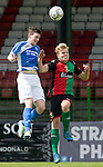 Glentoran v St Johnstone…. 09.07.16  The Oval, Belfast  Pre-Season Friendly<br />Blair Alston and Karl Hamill<br />Picture by Graeme Hart.<br />Copyright Perthshire Picture Agency<br />Tel: 01738 623350  Mobile: 07990 594431