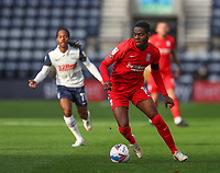 31st October 2020; Deepdale Stadium, Preston, Lancashire, England; English Football League Championship Football, Preston North End versus Birmingham City;  Jonathan Leko of Birmingham City runs with the ball
