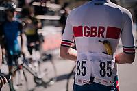 back-up banana for Alfred George (GBR)<br /> <br /> MEN JUNIOR ROAD RACE<br /> Kufstein to Innsbruck: 132.4 km<br /> <br /> UCI 2018 Road World Championships<br /> Innsbruck - Tirol / Austria