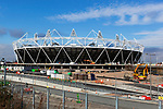 Grossbritannien, England, East London, Stratford: das noch nicht ganz fertig gestellte Olympiastadion fuer die Olympischen Spiele 2012 | United Kingdom, East London, Stratford: The Olympic stadium, venue for the London 2012 Olympics