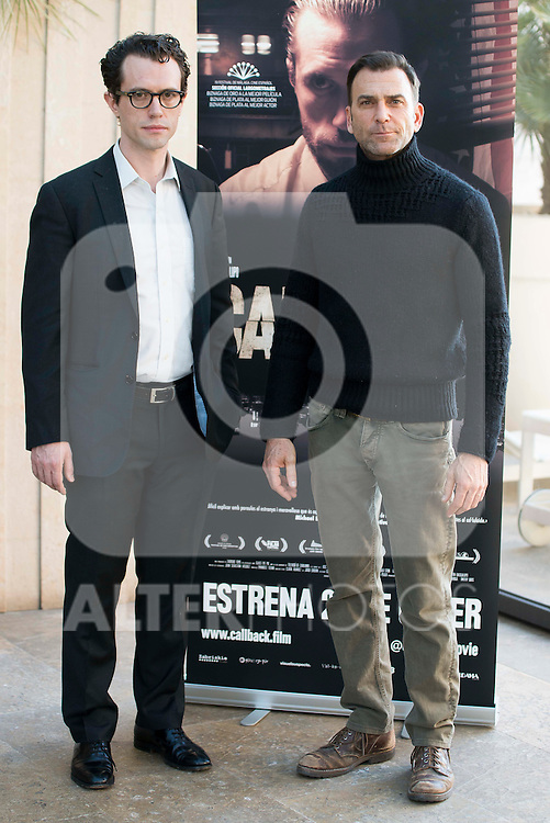 """Actors Martín Bacigalupo and Timothy Gibbs of the film Carles Torras during the junket of the film """"Callback"""" in Madrid, Spain. January 17, 2017. (ALTERPHOTOS/BorjaB.Hojas)"""