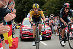 Tom Dumoulin (NED) Team Jumbo-Visma and Richard Carapaz (ECU) Ineos Grenadiers climb Col de Marie Blanque during Stage 9 of Tour de France 2020, running 153km from Pau to Laruns, France. 6th September 2020. <br /> Picture: Colin Flockton   Cyclefile<br /> All photos usage must carry mandatory copyright credit (© Cyclefile   Colin Flockton)