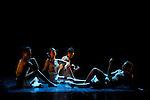ROYAUME UNI..Chorégraphie : Angelin Preljocaj..Avec : Carole Dauvillier, Jann Gallois, Marion Motin, Emilie Sudre..Musique : 79D, Maurice Ravel..Costumes : Nadine Lartigau..Lumières : Cécile Giovansili..Assistante du chorégraphe : Claudia De Smet..Choréologue : Dany Levêque..Festival Suresnes Cité Danse 2012..Lieu : Théâtre Jean Vilar..Ville : Suresnes..Le 19/01/2012..© Laurent Paillier / photosdedanse.com..All rights reserved