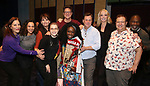 "Courtenay Collins, Isabelle McCalla, Beth Leavel, Caitlin Kinnunen, Christopher Sieber, Vasthy Mompoint, Brooks Ashmanskas, Angie Schworer, Josh Lamon and Michael Potts During the Actors' Equity Opening Night Legacy Robe honoring Vasthy Mompoint for ""The Prom"" at The Longacre Theatre on November 15, 2018 in New York City."