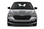 Car photography straight front view of a 2020 Skoda Scala Monte-Carlo 5 Door Hatchback Front View
