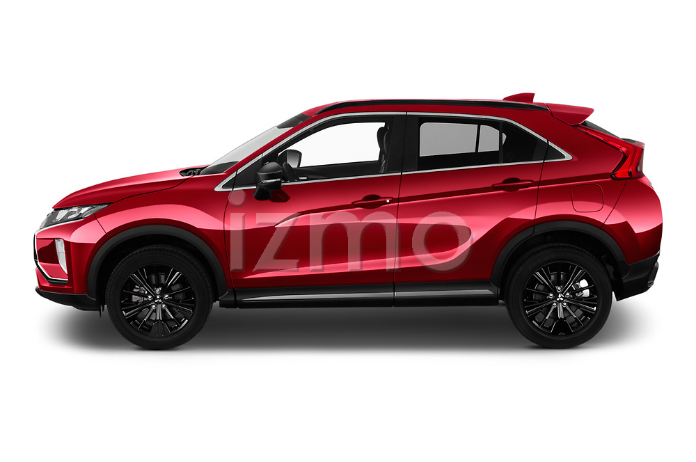Car Driver side profile view of a 2020 Mitsubishi Eclipse-Cross BLACK-Collection+ 5 Door SUV Side View