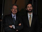 FRANCO BERNABE' CON IL FIGLIO MARCO NORBERTO <br /> PREMIO GUIDO CARLI - QUARTA EDIZIONE<br /> RICEVIMENTO HOTEL MAJESTIC ROMA 2013