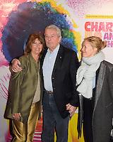 Laurence CHARLEBOIS - Alain DELON - Odile McDonald - Representation Robert Charlebois au theatre Bobino - 11 avril 2016 - Paris - France
