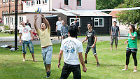 Volleyball at the reunion for Summerhill School's 90th birthday celebrations.