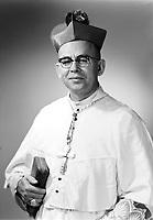Monseigneur Jobidon 1968, date exacte inconnue<br /> <br /> PHOTO : Agence Québec Presse -