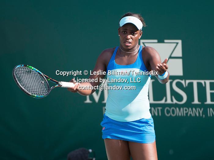 Sloane Stephens (USA) loses to Mona Barthel (GER) 6-3, 7-6 at the Family Circle Cup in Charleston, South Carolina on April 8, 2015.