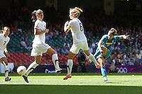 CRISTIANE of Brazil fires in a shot - New Zealand Women vs Brazil Women - Womens Olympic Football Tournament London 2012 Group E at the Millenium Stadium, Cardiff, Wales - 28/07/12 - MANDATORY CREDIT: Gavin Ellis/SHEKICKS/TGSPHOTO - Self billing applies where appropriate - 0845 094 6026 - contact@tgsphoto.co.uk - NO UNPAID USE.