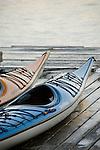 Kayak detail at the Riverplace Marina, Portland, Oregon