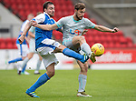 St Johnstone v Hartlepool…22.07.17… McDiarmid Park… Pre-Season Friendly<br />Paul Paton and Lewis Hawkins<br />Picture by Graeme Hart.<br />Copyright Perthshire Picture Agency<br />Tel: 01738 623350  Mobile: 07990 594431