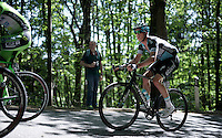 "domestique ""par excellence"" Iljo Keisse (BEL/Etixx-QuickStep) as one of the last guys up the Monte Ologno (1168m)<br /> <br /> Giro d'Italia 2015<br /> stage 18: Melide (SUI) - Verbania (170km)"